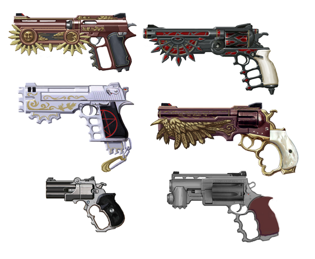 The weapons of bayonetta platinumgames official blog i suppose gun lovers will be able to figure out which gun is based on what real world weapon the strange base guns are the traces of trial and error altavistaventures Gallery
