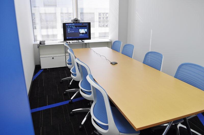 PlatinumGames New Offices PlatinumGames Official Blog - Blue conference table